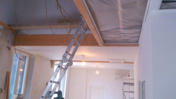 Waco Texas DIY stretch ceiling in office