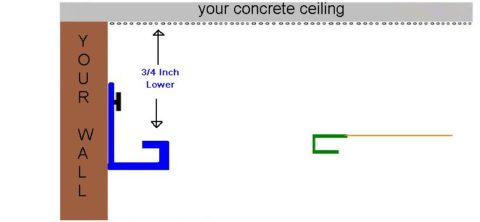 The stretch ceiling system glossy stretched